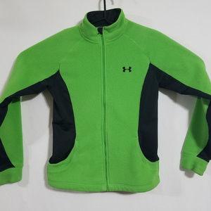 Under Armour Womens Medium Fleece Jacket Green